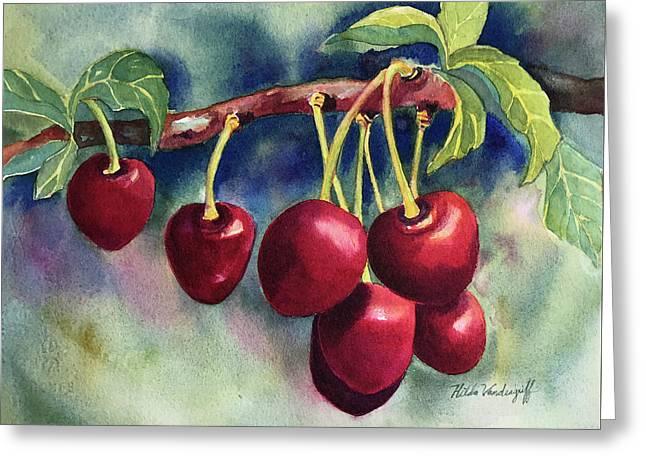 Luscious Cherries Greeting Card