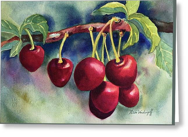 Luscious Cherries Greeting Card