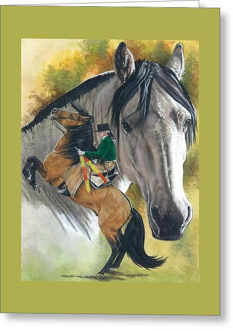 Greeting Card featuring the painting Lusitano by Barbara Keith