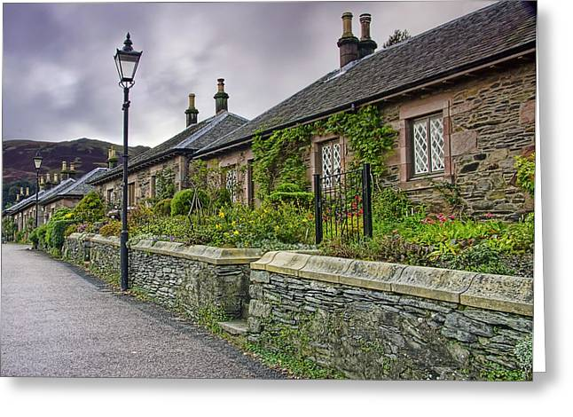 Luss Cottages Greeting Card by Sam Smith