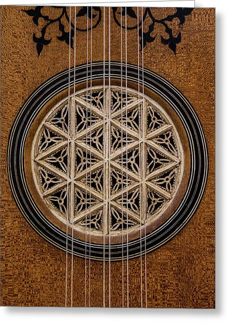 Lute Soundhole Greeting Card by Thomas Morris