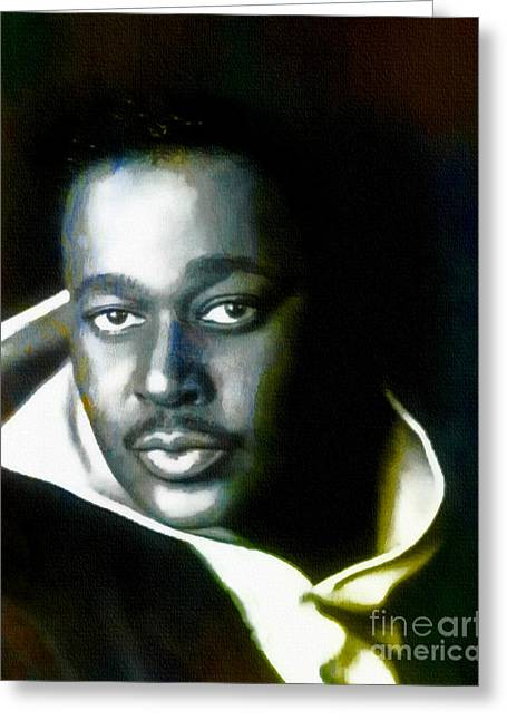 Luther Vandross - Singer  Greeting Card