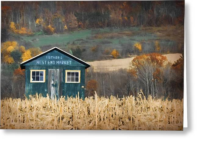 Luther's West End Market Greeting Card by Lori Deiter