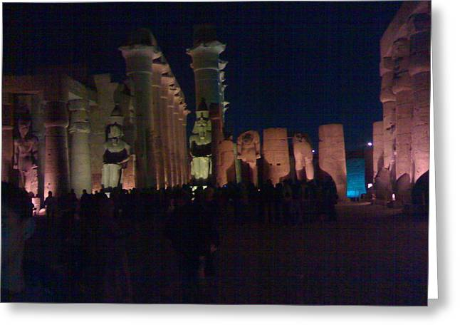 Luxor City In Egypt Greeting Card by Samar Abdelmonem