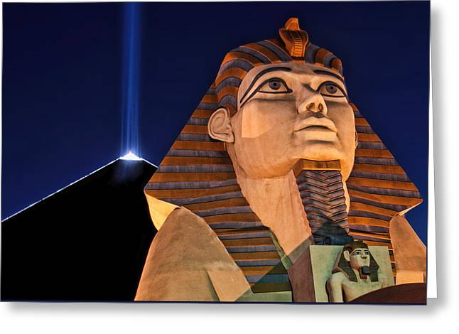 Greeting Card featuring the photograph Luxor by Tammy Espino