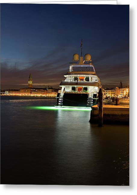 Luxury Cruiser In Venice  Greeting Card