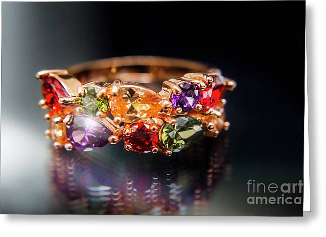 Luxury Gemstone Fine Jewelry Rings Greeting Card by Jorgo Photography - Wall Art Gallery