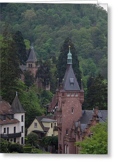 Luxury Hilltop Homes In Heidelberg Greeting Card by Teresa Mucha