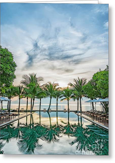 Greeting Card featuring the photograph Luxury Pool In Paradise by Antony McAulay