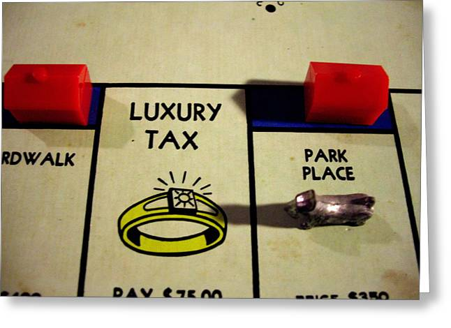 Luxury Tax Greeting Card
