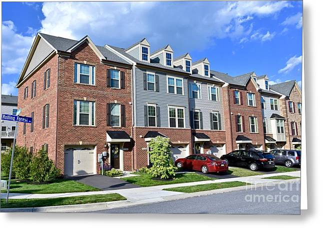 Luxury Town Houses Greeting Card