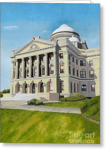 Luzerne County Courthouse Greeting Card by Austin Burke