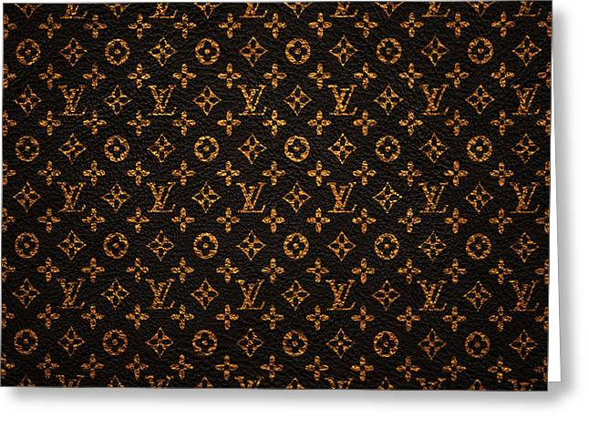 Lv Pattern Greeting Card by Janis Marika
