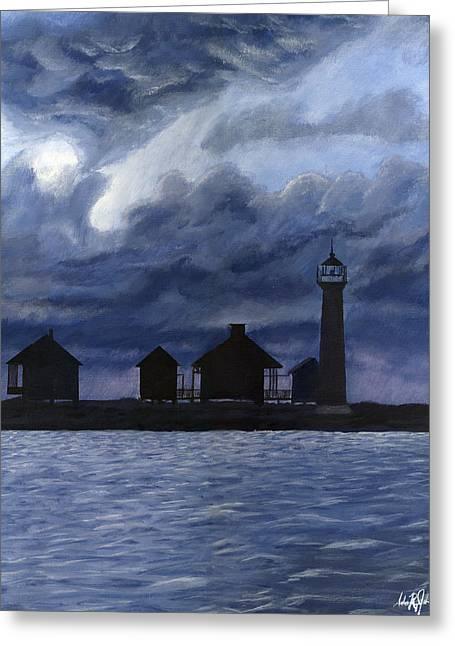 Lydia Ann Lighthouse Greeting Card