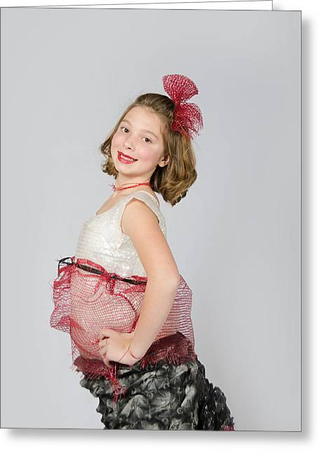 Lydia In Wraps Greeting Card
