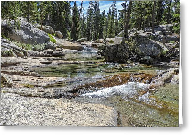 Lyell Fork Tuolomne River Yosemite National Park Greeting Card