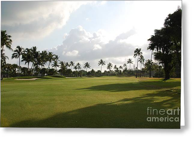 Lyford Cay Golf Club The Bahamas Greeting Card
