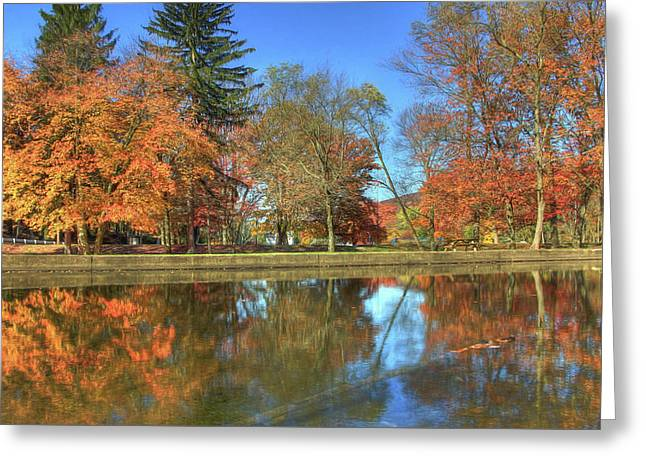 Greeting Card featuring the photograph Lykens Glen Reflections by Lori Deiter