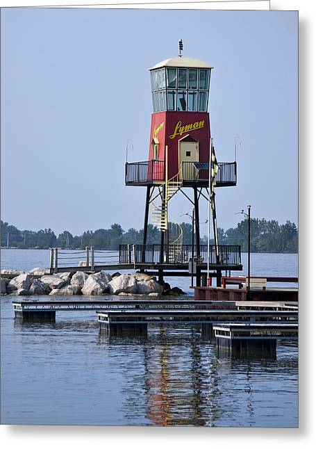 Lyman Harbor Lighthouse Greeting Card