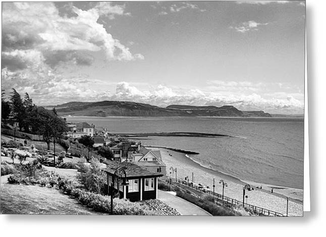 Lyme Regis And Lyme Bay, Dorset Greeting Card by John Edwards