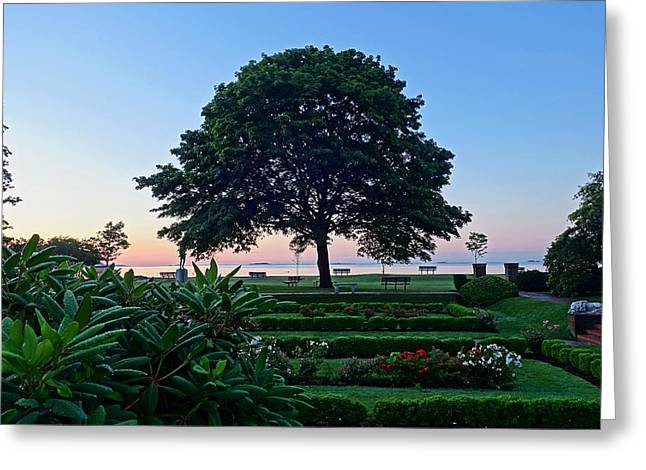 Lynch Park At Dawn Beverly Ma Greeting Card
