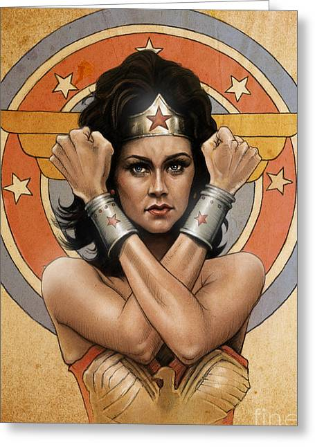 Lynda Carter Greeting Card by Andre Koekemoer