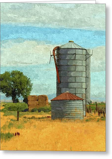 Greeting Card featuring the digital art Lyndyll Farm by David King