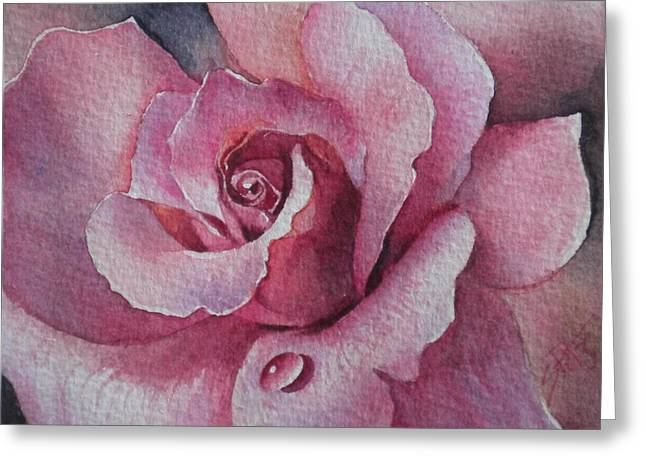 Lyndys Rose Greeting Card by Sandra Phryce-Jones