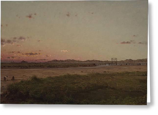 Lynn Meadows, 1863 Greeting Card by Martin Johnson Heade