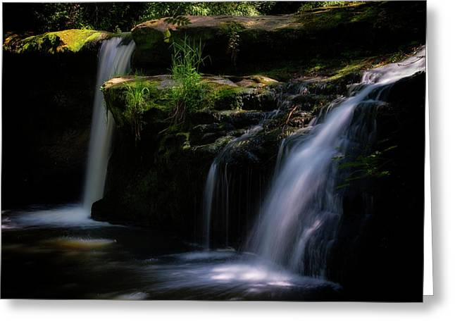 Greeting Card featuring the photograph Lynn Mill Waterfalls by Jeremy Lavender Photography