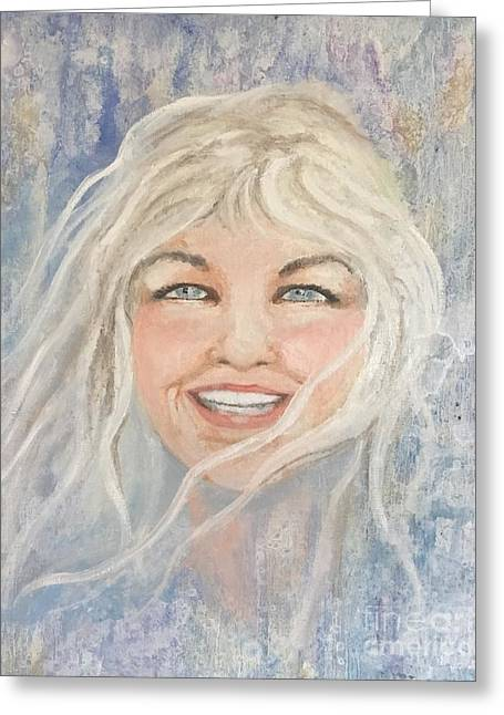 Lynnportrait Of A Young Woman  Greeting Card