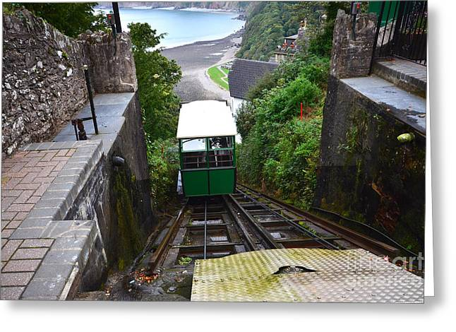 Lynton And Lynmouth Cliff Railway Greeting Card
