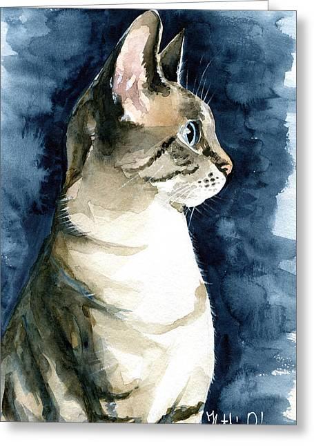 Lynx Point Cat Portrait Greeting Card