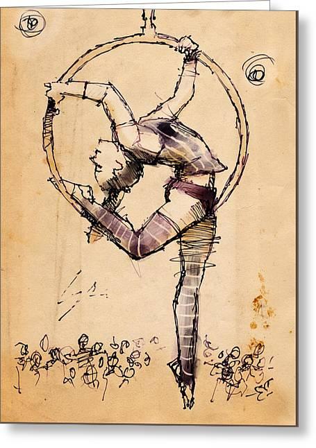 Lyra Greeting Card by H James Hoff