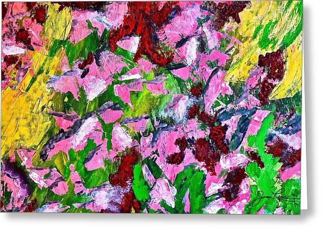 Lyrical Abstraction 201 Greeting Card