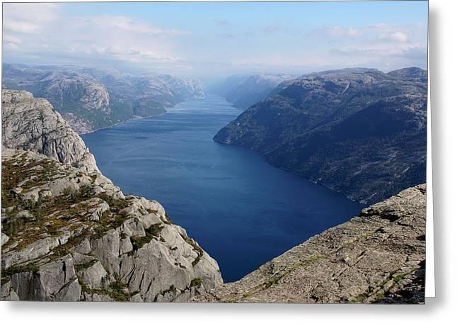 Lysefjord Greeting Card