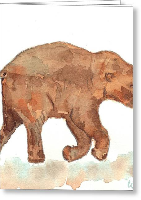 Lyuba The Ice Baby Mammoth  Greeting Card by Warren Thompson