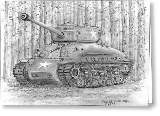 M-4 Sherman Tank Greeting Card
