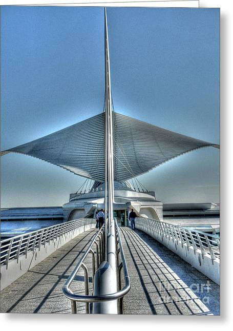 M A M Unfurled Greeting Card by David Bearden