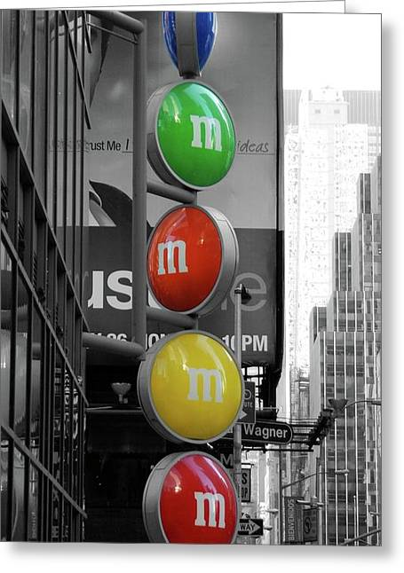 M And Ms In New York City Greeting Card