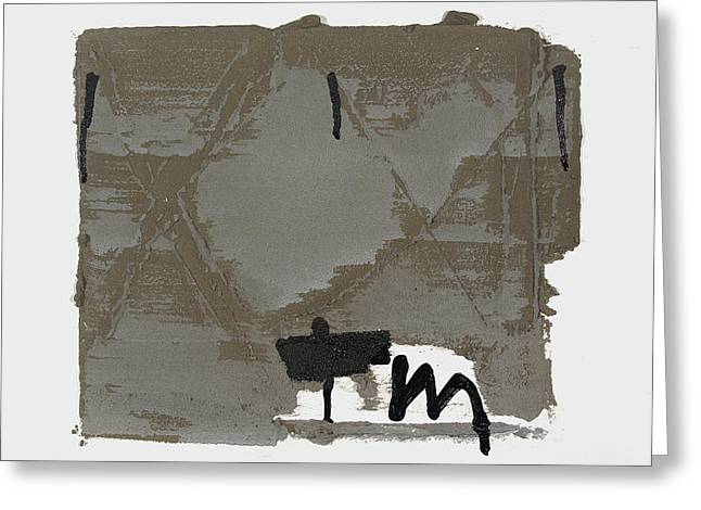 Plaster Reliefs Greeting Cards - M Greeting Card by Andrew Crane