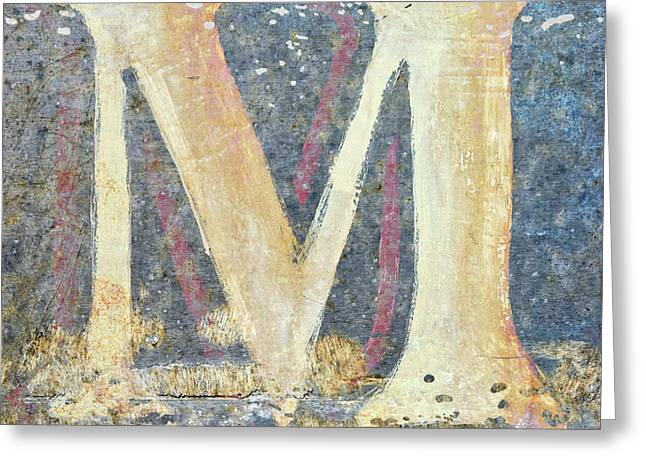M Is For Monet Greeting Card