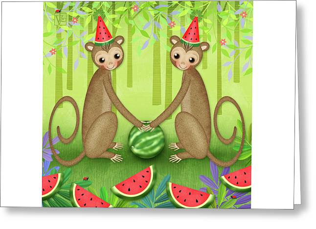 M Is For Monkeys Greeting Card