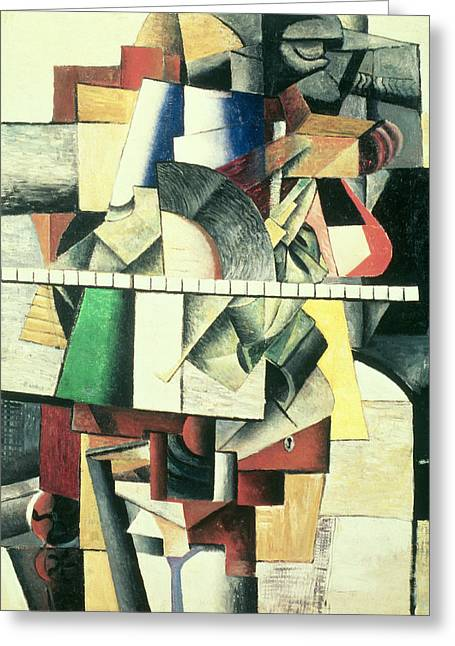 M Matuischin Greeting Card by Kazimir Severinovich Malevich