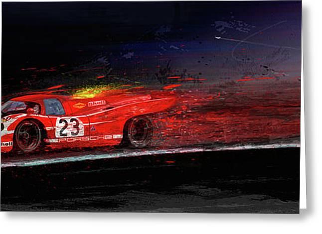 M Mcfly Racing Greeting Card by Alan Greene