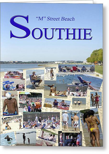 M Street Beach  Southie Greeting Card