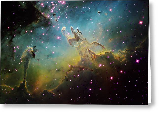 Interstellar Clouds Greeting Cards - M16 The Eagle Nebula Greeting Card by Ken Crawford