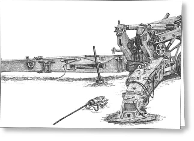M198 Howitzer - Natural Sized Prints Greeting Card