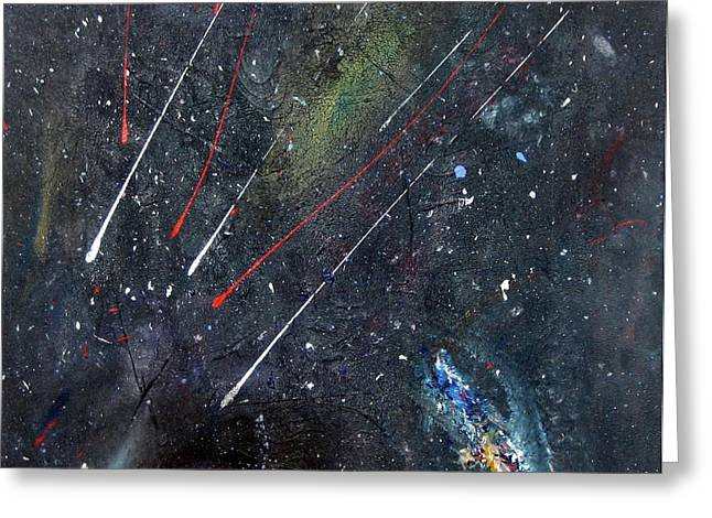 Greeting Card featuring the painting M51 by Michael Lucarelli