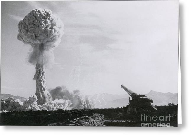 M65 Atomic Cannon Greeting Card by Science Source